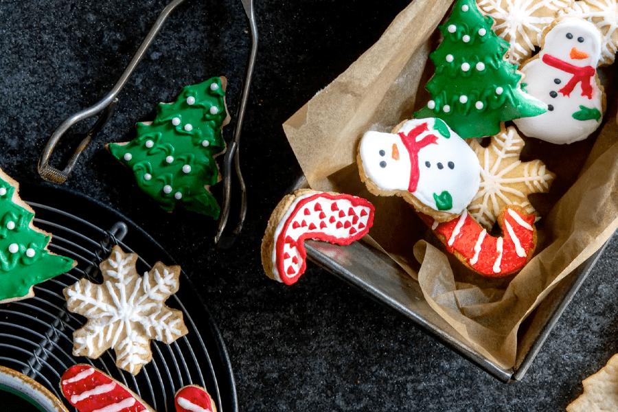 Weihnachtliches Buttergebäck