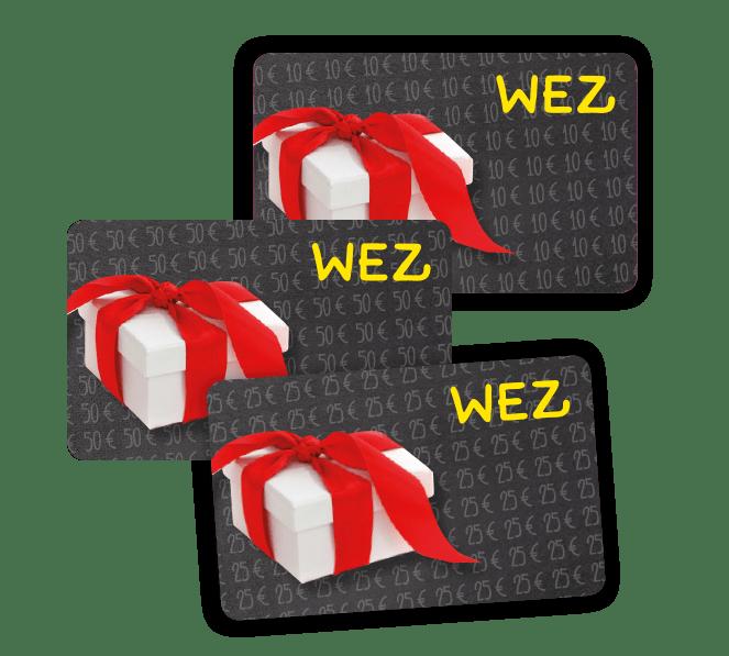 Gutscheinkarte für 10€, 25€ oder 50€