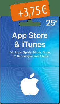 Geschenkkarte AppStore & iTunes 25€
