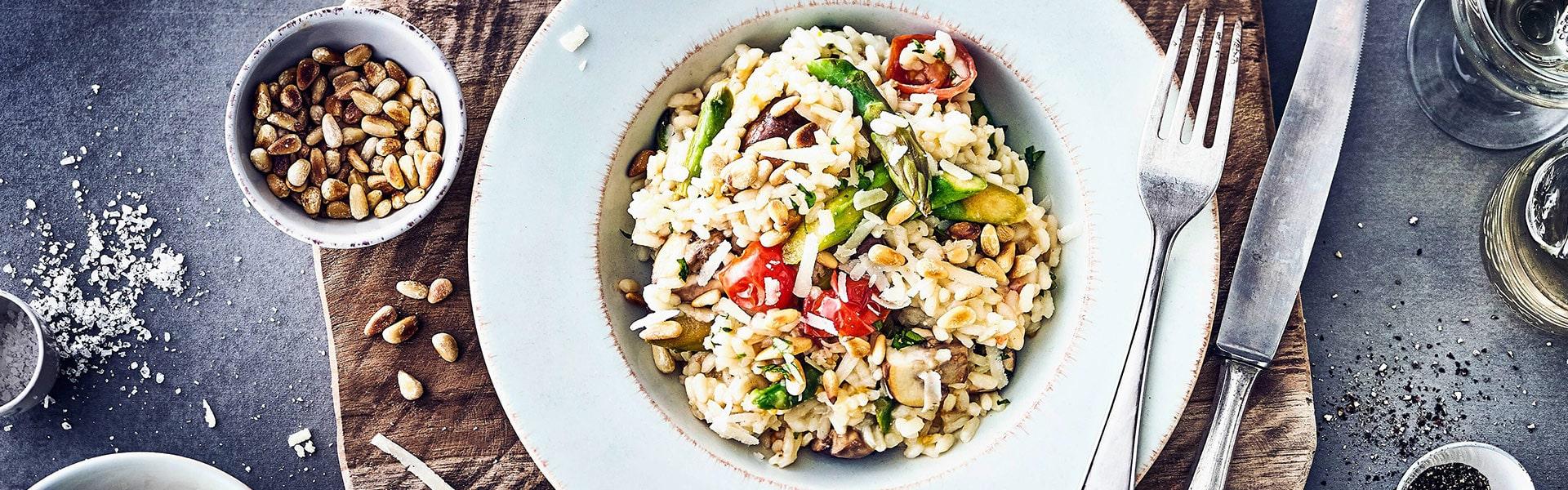 Risotto mit frischem Gemüse