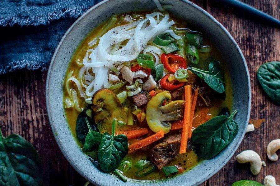 Thai-Suppe mit Jackfruit