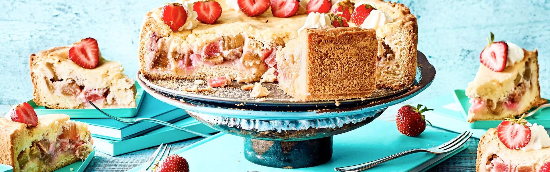 Rhabarber-Grießkuchen