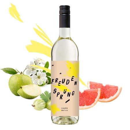 Fruchtiger trockener Weißwein Cuvée