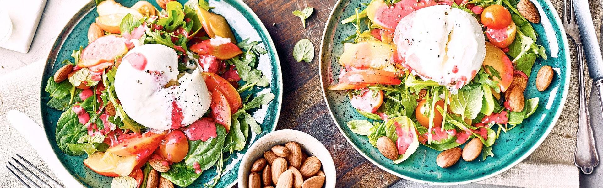 Burrata-Nektarinen-Salat