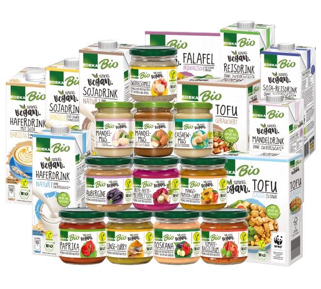 Veganes Bio-Sortiment von EDEKA