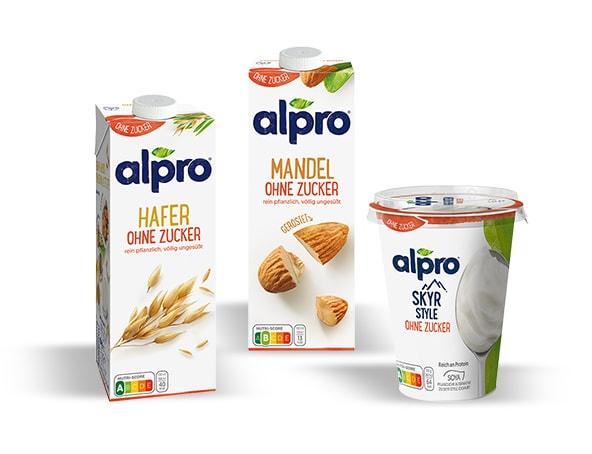 zuckerfreie alternativen von alpro