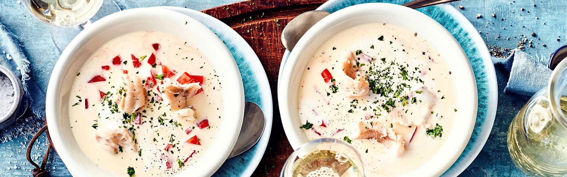 Fischsuppe mit Forelle